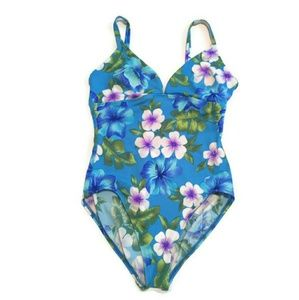 VTG Lands' End Floral One Piece Swimwear